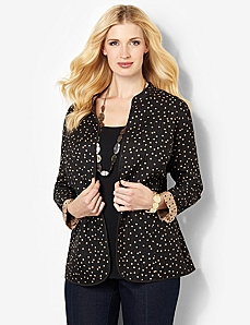 Dotted Reversible Jacket by CATHERINES