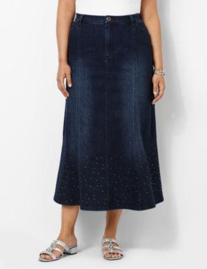 Shimmer Denim Skirt