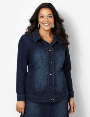 Shimmer Denim Jacket