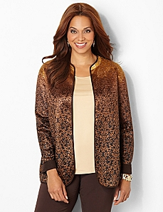 Reversible Damask Jacket by CATHERINES