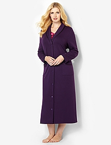 Dreamer Satin French Terry Knit Robe by CATHERINES