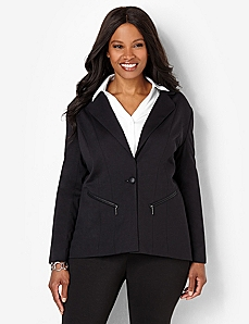Trim Finish Jacket by CATHERINES