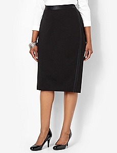 Trim Finish Skirt by CATHERINES
