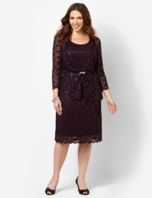 Romantic Lace Jacket Dress