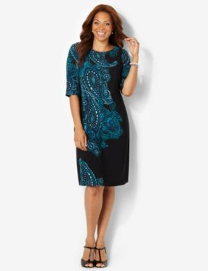 Paisley Placement Dress