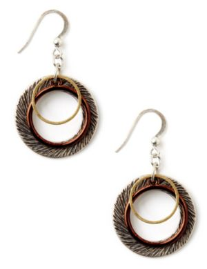 Tri-Tone Earrings
