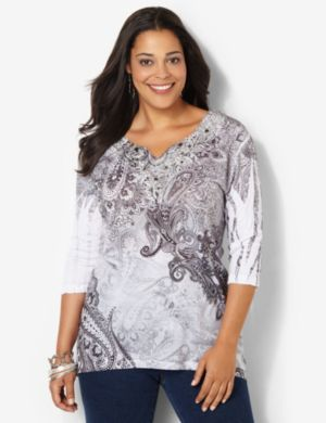 Misty Paisley Top