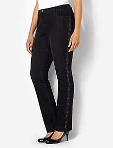 Shimmer Trim Jean by CATHERINES