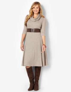 Soft Knit Dress & Scarf