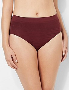 Shadow Stripe Seamless Hi-Cut Brief by CATHERINES