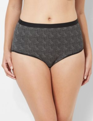 Chevron Full Brief Panty