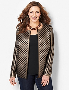 Metallic Sheen Jacket by CATHERINES
