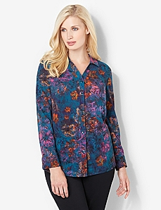 Rich Watercolor Blouse by CATHERINES