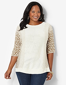 Soft Animal Print Top by Catherines