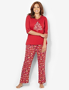 Snow Bunny Pajama Set by CATHERINES