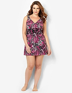 Color Swirl Swimdress