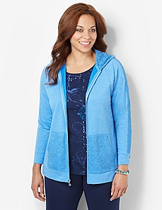 Touch Of Lace Jacket by CATHERINES