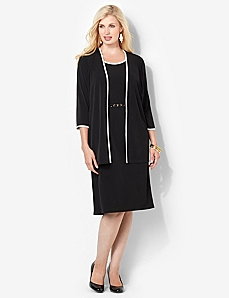 Touch Of Trim Jacket Dress