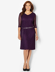 Modern Crochet Dress by CATHERINES