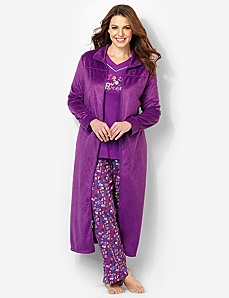 Plush Zip Robe by CATHERINES