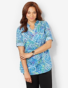 Paisley Sensation Tunic by CATHERINES
