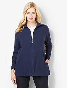Fleece Textured Jacket by CATHERINES