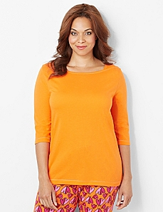 Soft Slumber Boatneck Sleep Top by CATHERINES