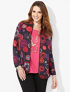 Reversible Medallion Jacket by CATHERINES