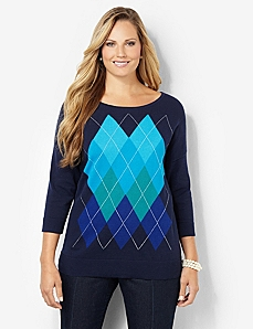 Argyle Sweater by CATHERINES