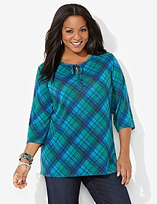 Bias Plaid Peasant by CATHERINES