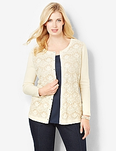 Lace Treasure Cardigan by CATHERINES