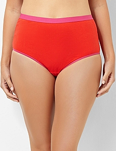 Serenada® Colorblock Full Brief Panty by CATHERINES