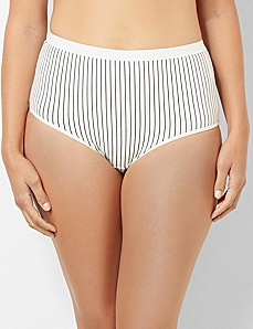 Pinstripe Cotton Full Brief