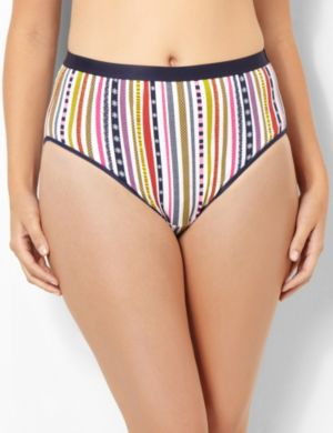 Color Stripes Cotton Hi-Cut Brief
