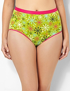 Colorful Snowflakes Cotton Full Brief by CATHERINES