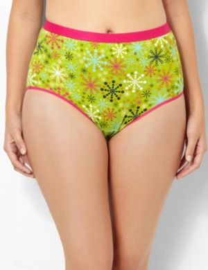Colorful Snowflakes Cotton Full Brief