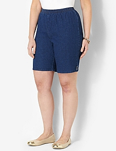 Relaxed Denim Short by CATHERINES