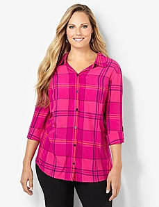 Pretty In Plaid Top by CATHERINES
