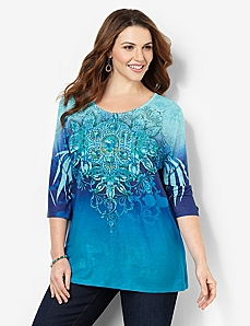 Sparkle & Scroll Tee by CATHERINES
