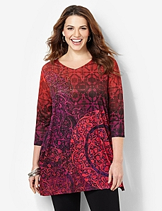 Tranquil L'Attitude Tunic by CATHERINES