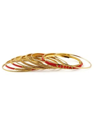 Metallic Bangle Bracelet Set