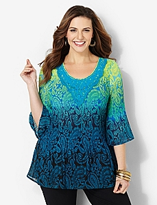 Paisley Dusk Top by CATHERINES