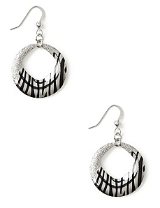 Zebra Hoop Earrings