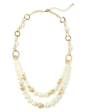 Glitter & Pearl Necklace