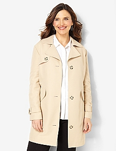 Stylish Trench Coat by CATHERINES