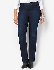 Secret Slimmer® Synergy Straight Leg Jean by CATHERINES