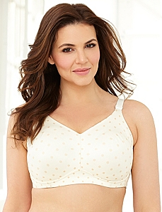 Dotted Back-Smoother No-Wire Bra by CATHERINES
