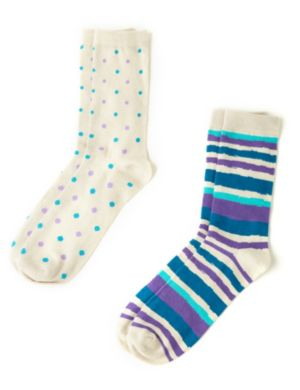 Stripes & Dots 2-Pack Socks