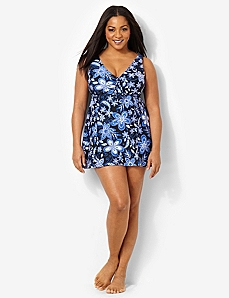 Midnight Flower Swimdress