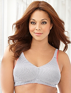 Thin Stripes No-Wire Cotton Comfort Bra